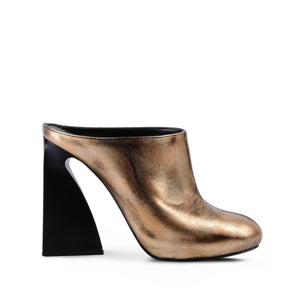 Stella Mccartney Vanessa Shoes In Pale Gold / Black