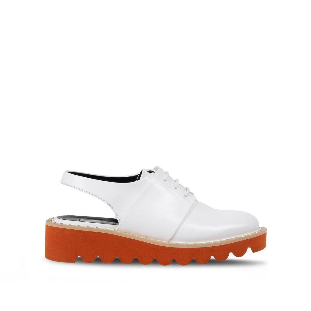 f43e7366355 Stella Mccartney Odette Faux Leather Slingback Plaftorm Loafers In White. STELLA  MCCARTNEY