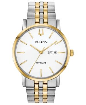 Bulova Men's Automatic American Clipper Two-Tone Stainless Steel Bracelet Watch 42Mm In White/Multi