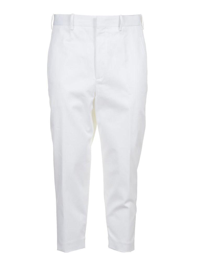 Neil Barrett Cropped Tailored Trousers In Bianco