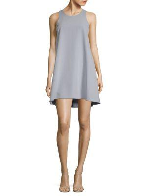 Milly Sleeveless Trapeze Dress In Dove