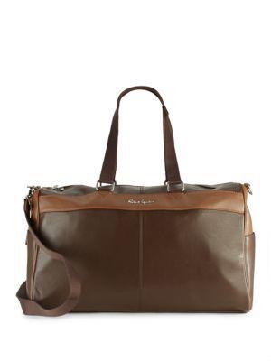 Robert Graham Siran Leather Duffel Bag In Brown