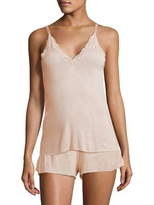 Skin Juno Lace Camisole In Soft Pink