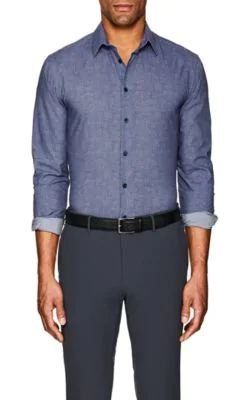Giorgio Armani Textured Cotton Poplin Shirt
