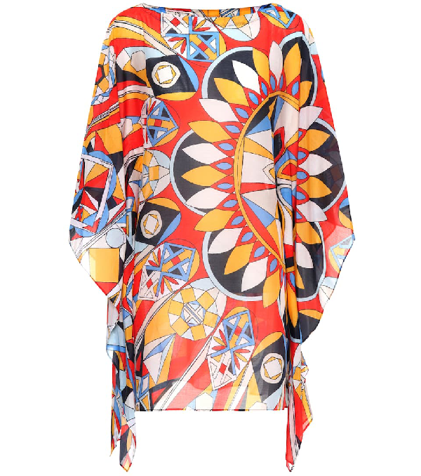 dd5c37dfaf Tory Burch Kaleidoscope Cotton And Silk Kaftan In Multicoloured ...