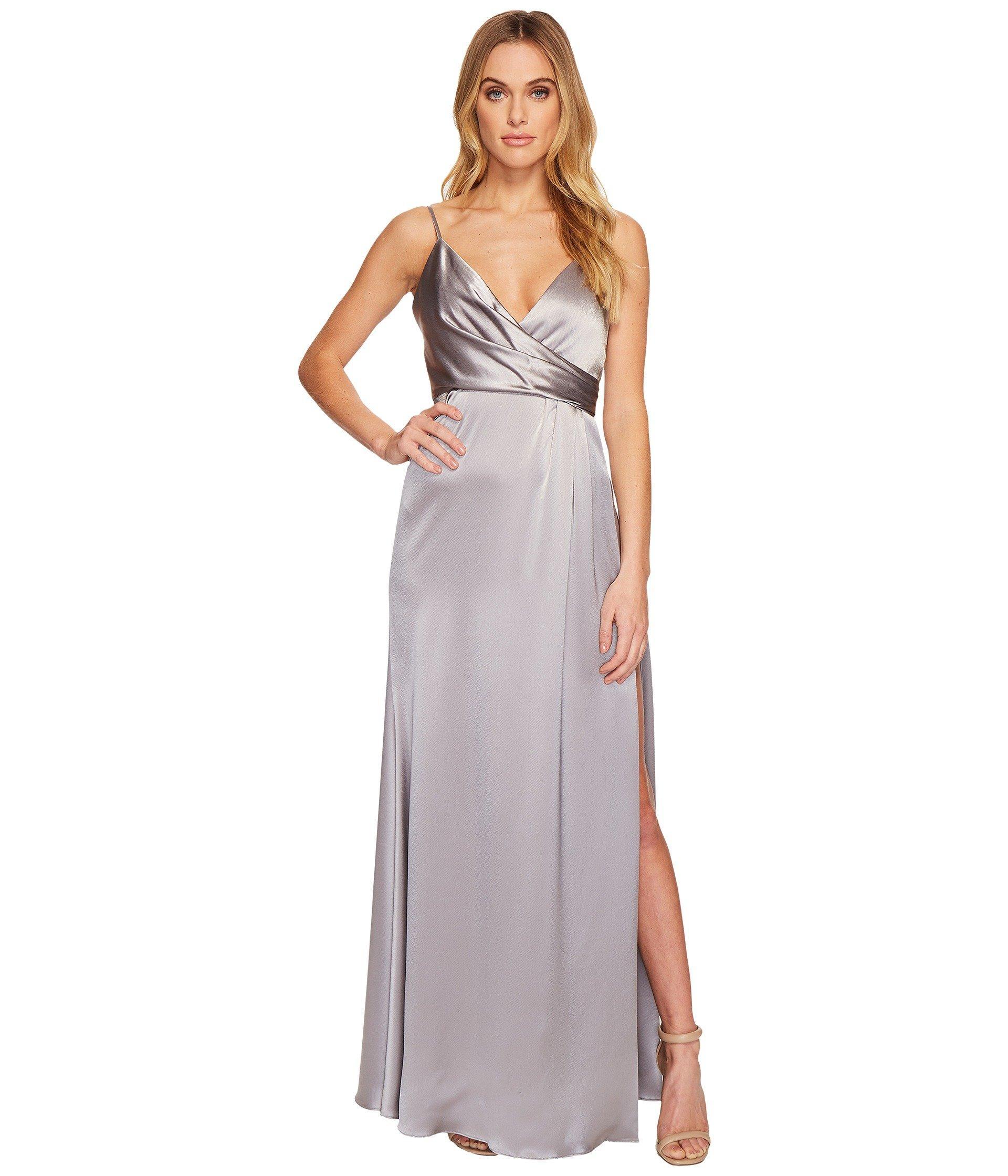 81617d57e9cda Jill Jill Stuart Satin Back Crepe Slip Dress, Silver/Grey | ModeSens
