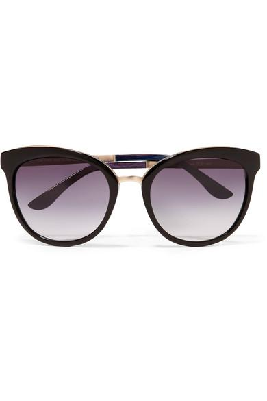 9b9e0a4ff Tom Ford Cat-Eye Acetate And Gold-Tone Sunglasses In Black   ModeSens