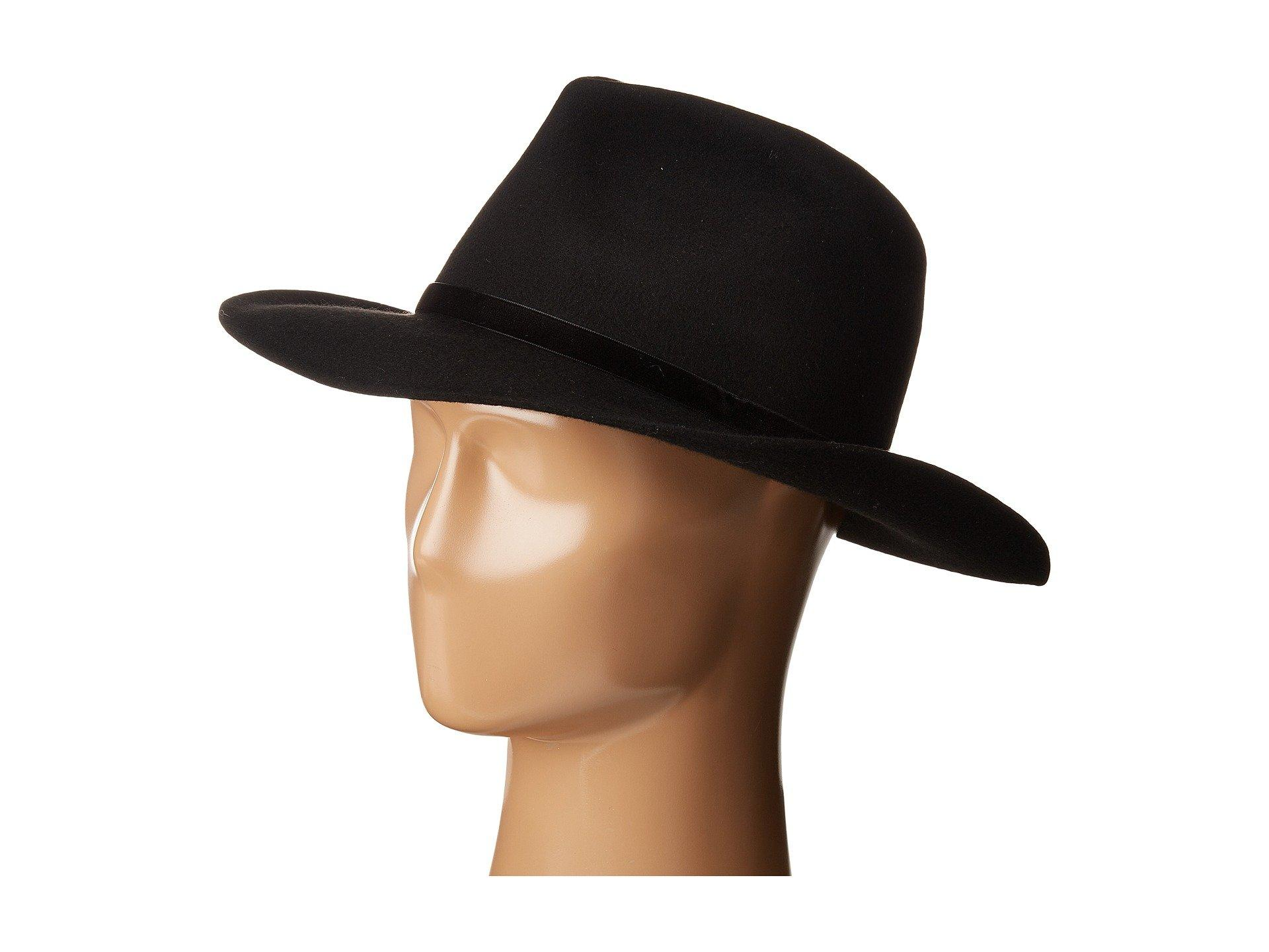Lack Of Color The Lui Wool Felt Fedora In Black