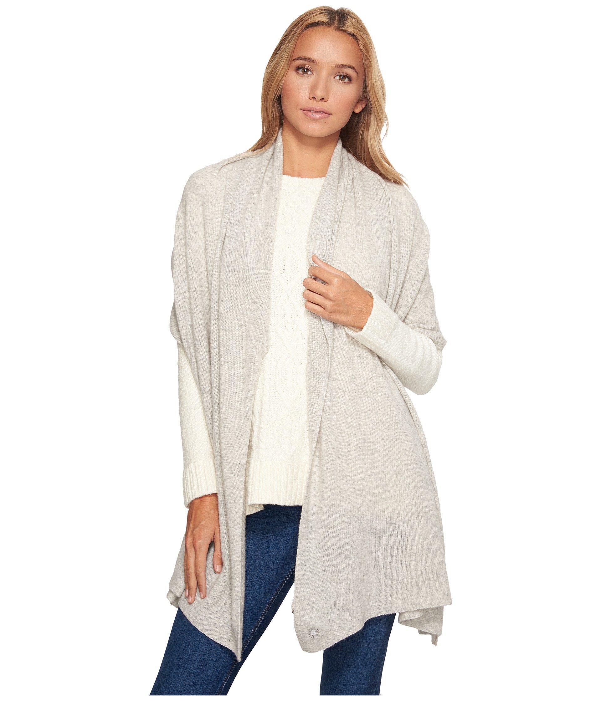 Ugg Luxe Oversized Wrap, Light Grey Heather
