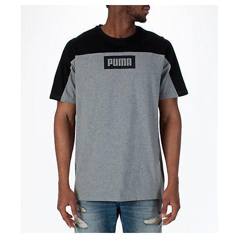 Puma Men's Rebel Block T-shirt, Grey