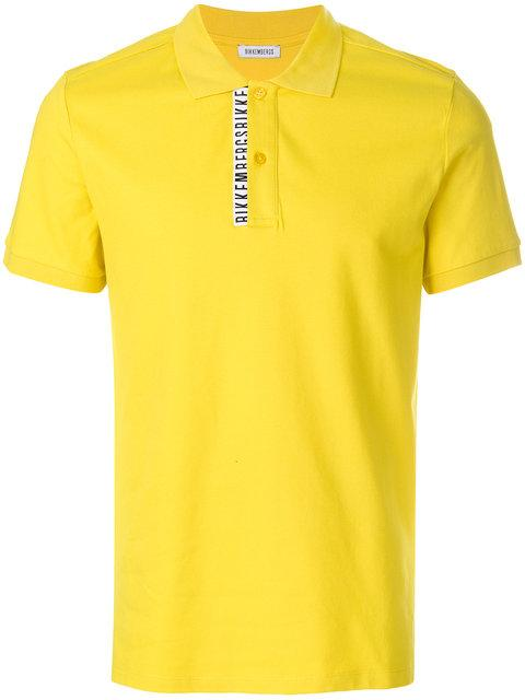 Dirk Bikkembergs Logo Patch Polo Top - Yellow