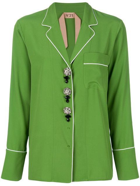 N°21 Mandarin Pyjama Style Shirt