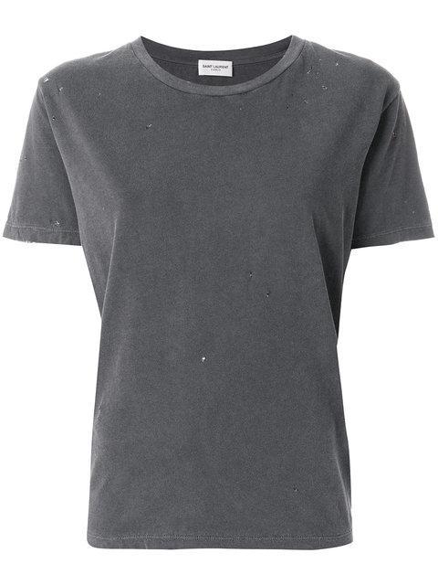 Saint Laurent Crew Neck T-shirt - Grey