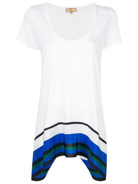 Fay Contrast Strip Trim T-shirt