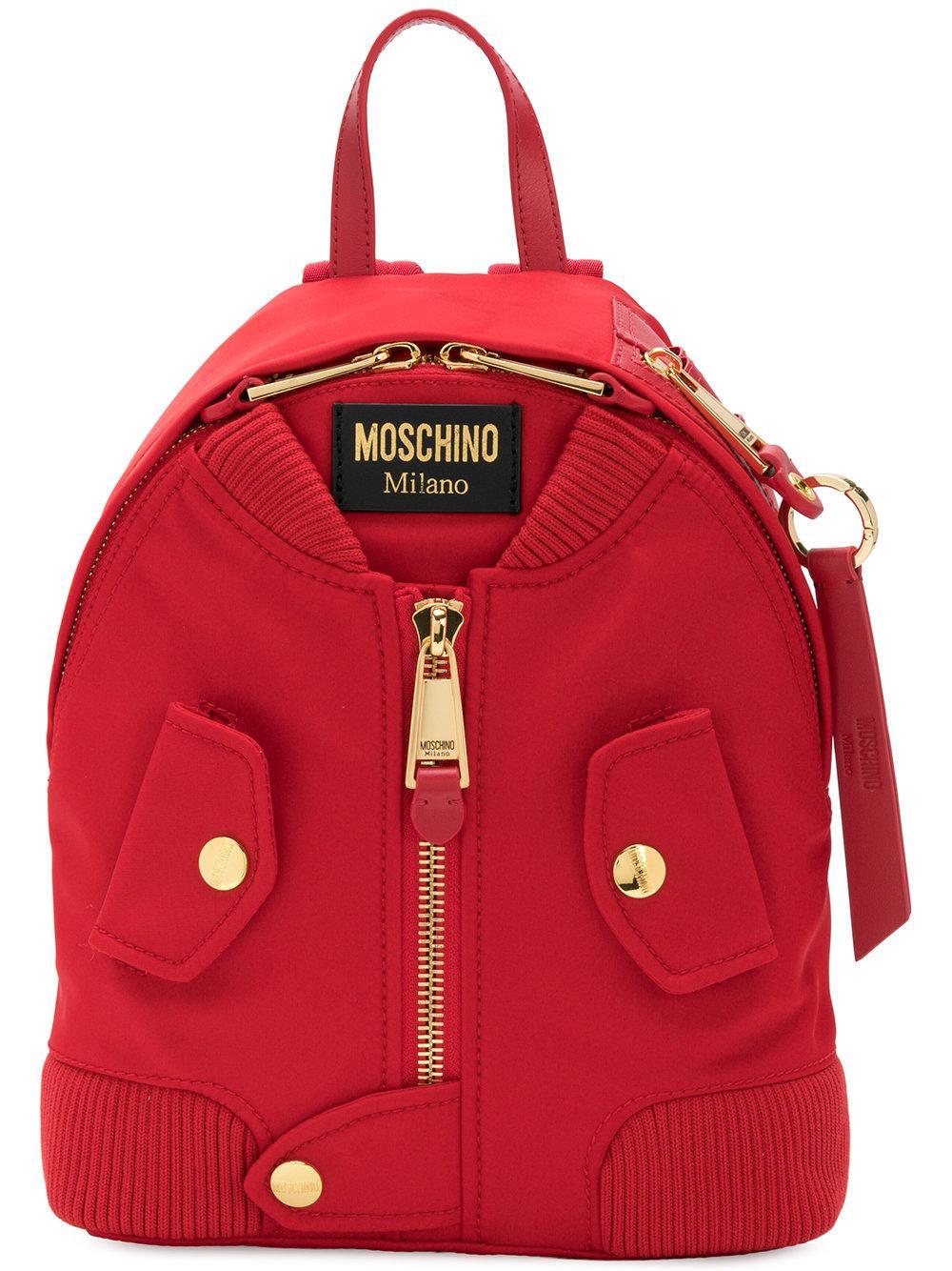Moschino Bomber Jacket Backpack
