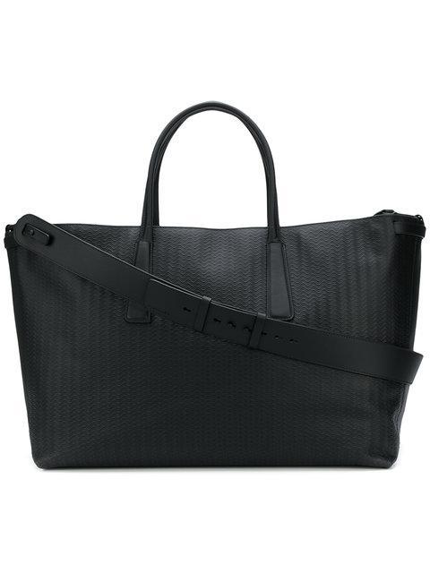 Zanellato Textured L Tote Bag - Black