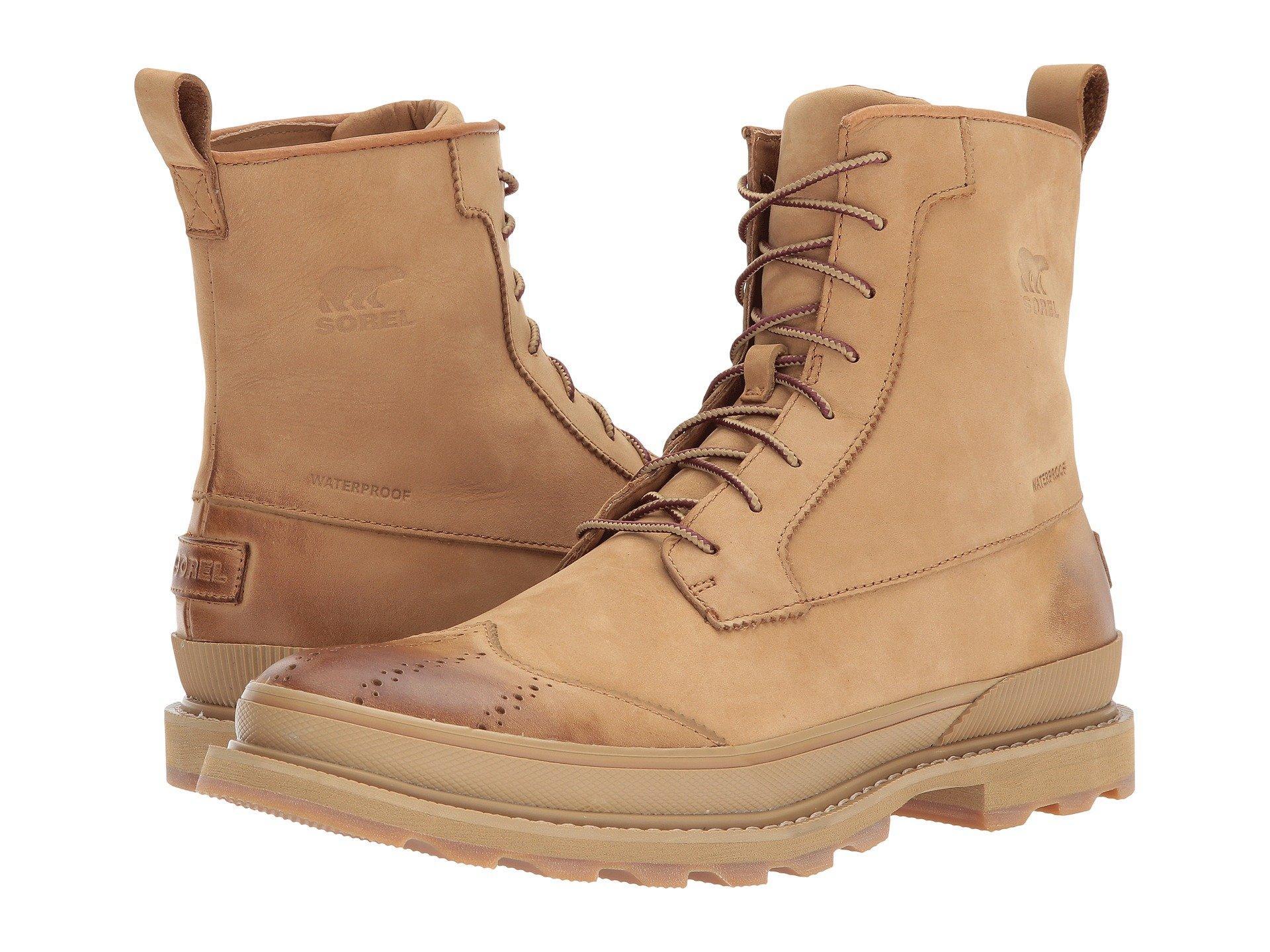 95df2d263 Madson Wingtip Boot Waterproof, Buff/Crouton