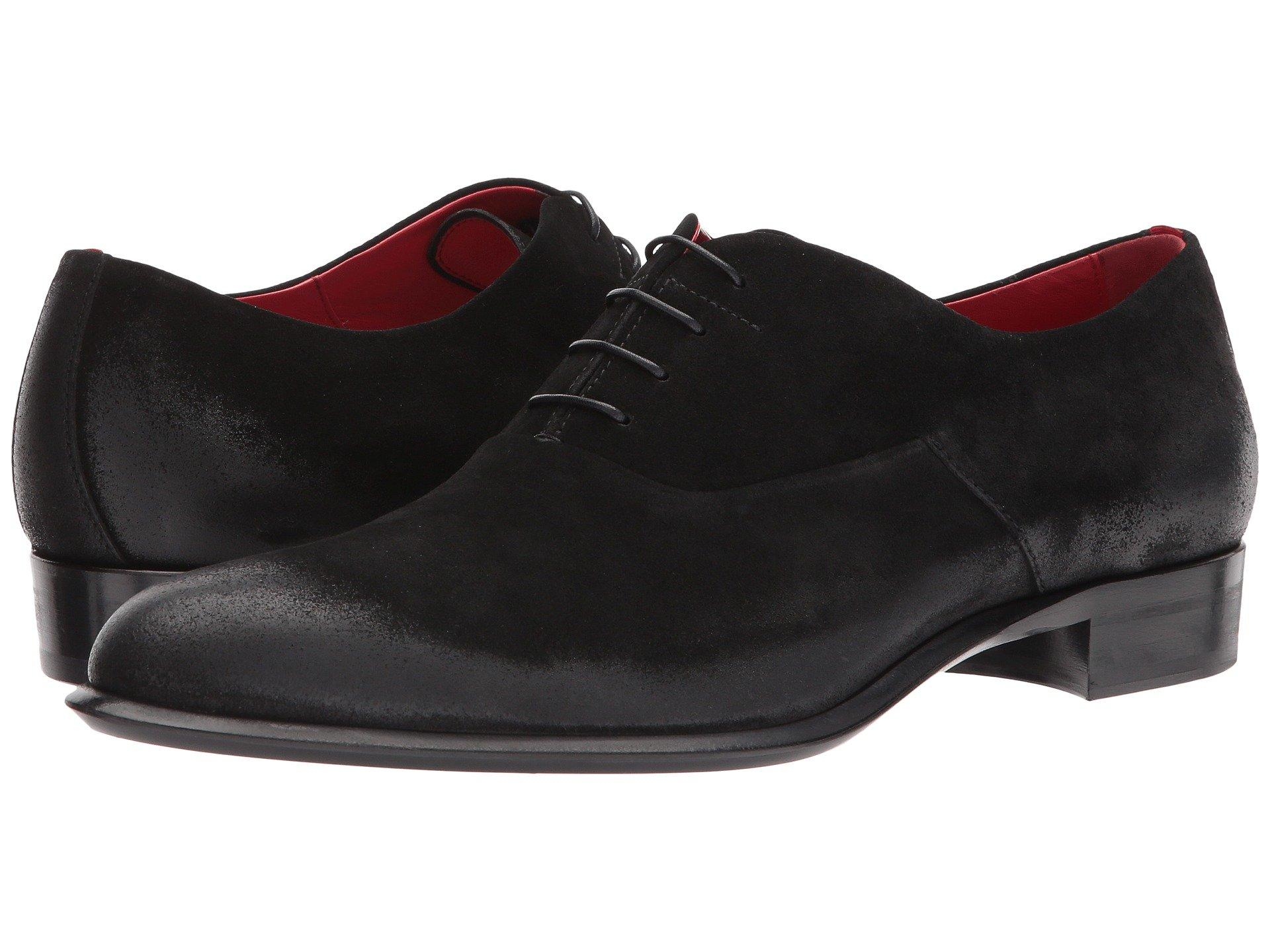 Hugo Boss Deluxe Suede Lace-up Oxford By Hugo In Black