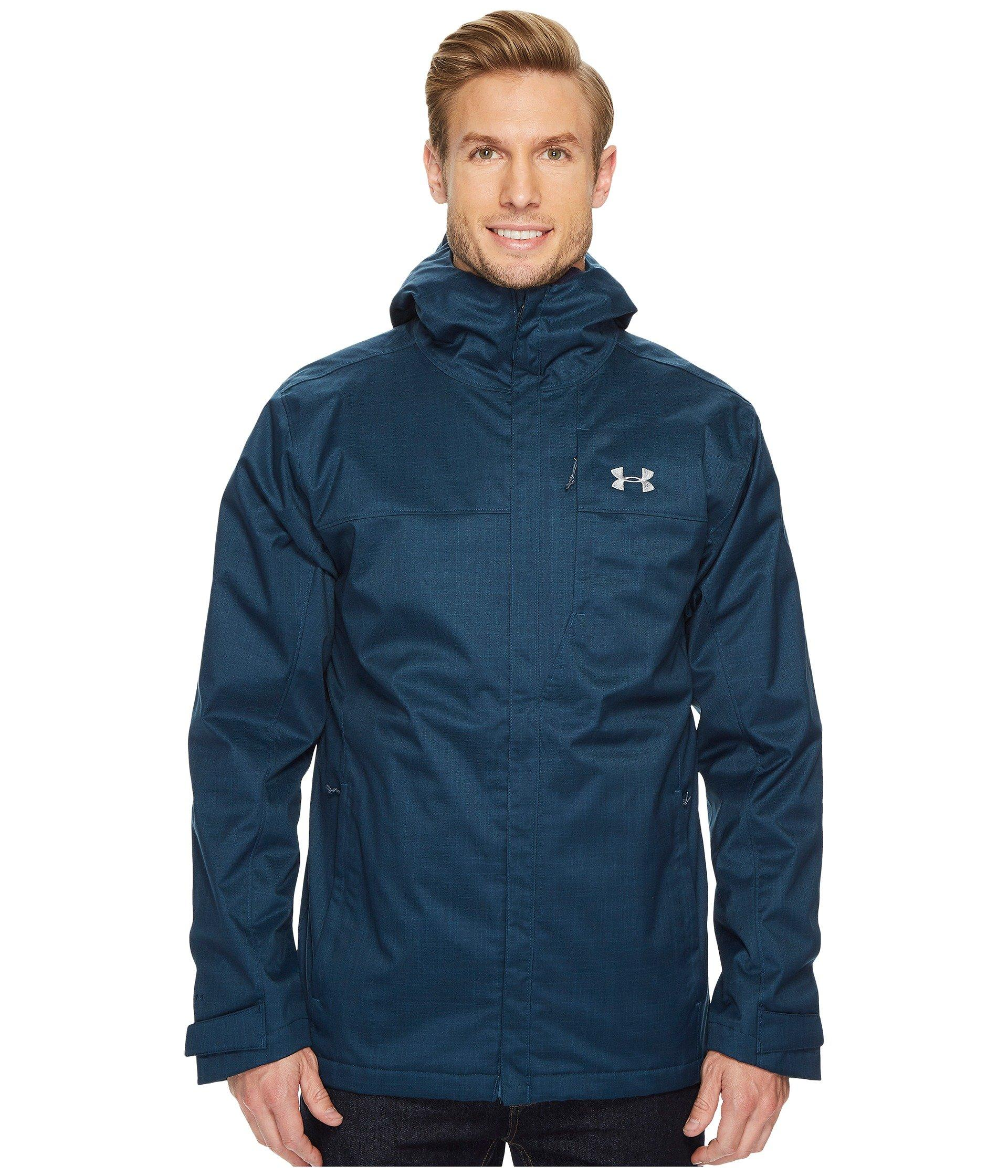 Under Armour Ua Porter 3-in-1 Jacket In True Ink/midnight Navy/steel