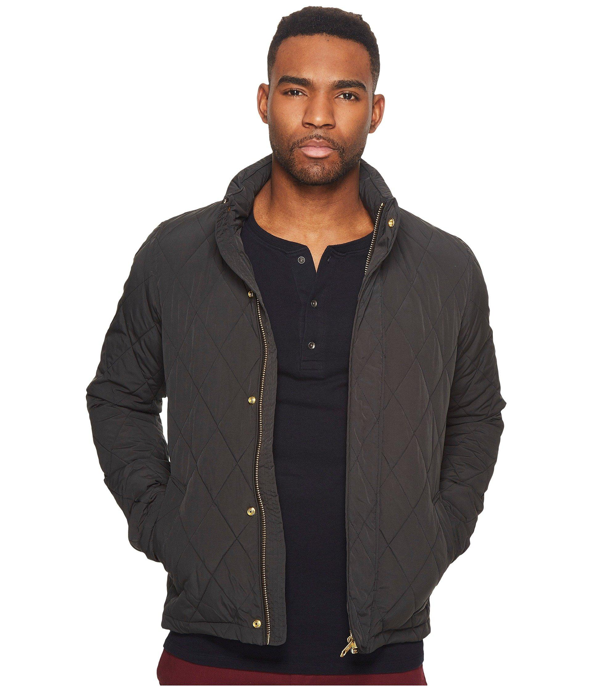 Scotch & Soda Classic Lightweight Padded Jacket With Diamond Quilting In Antra