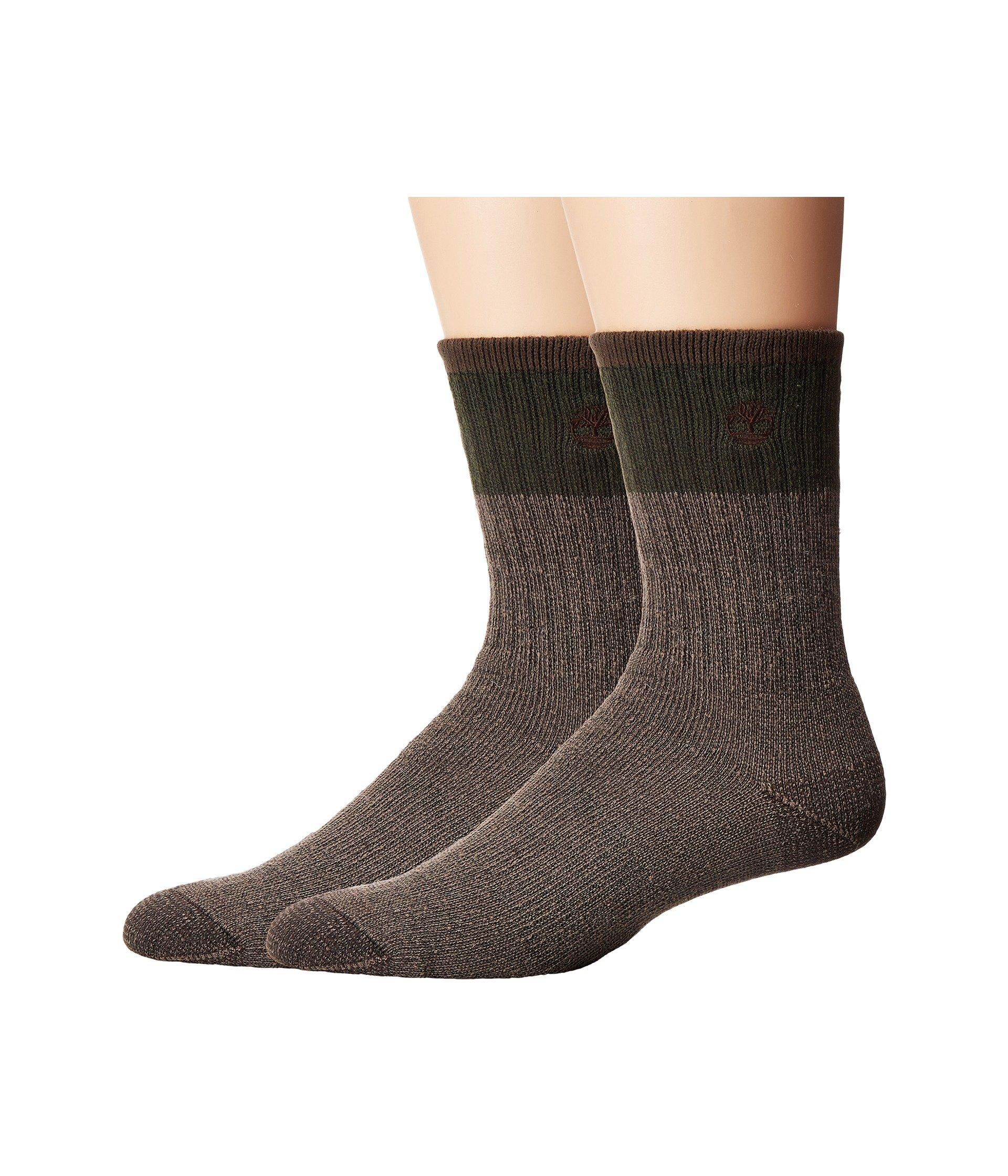 Timberland Wool Crew 2-pack Socks In Thyme/navy