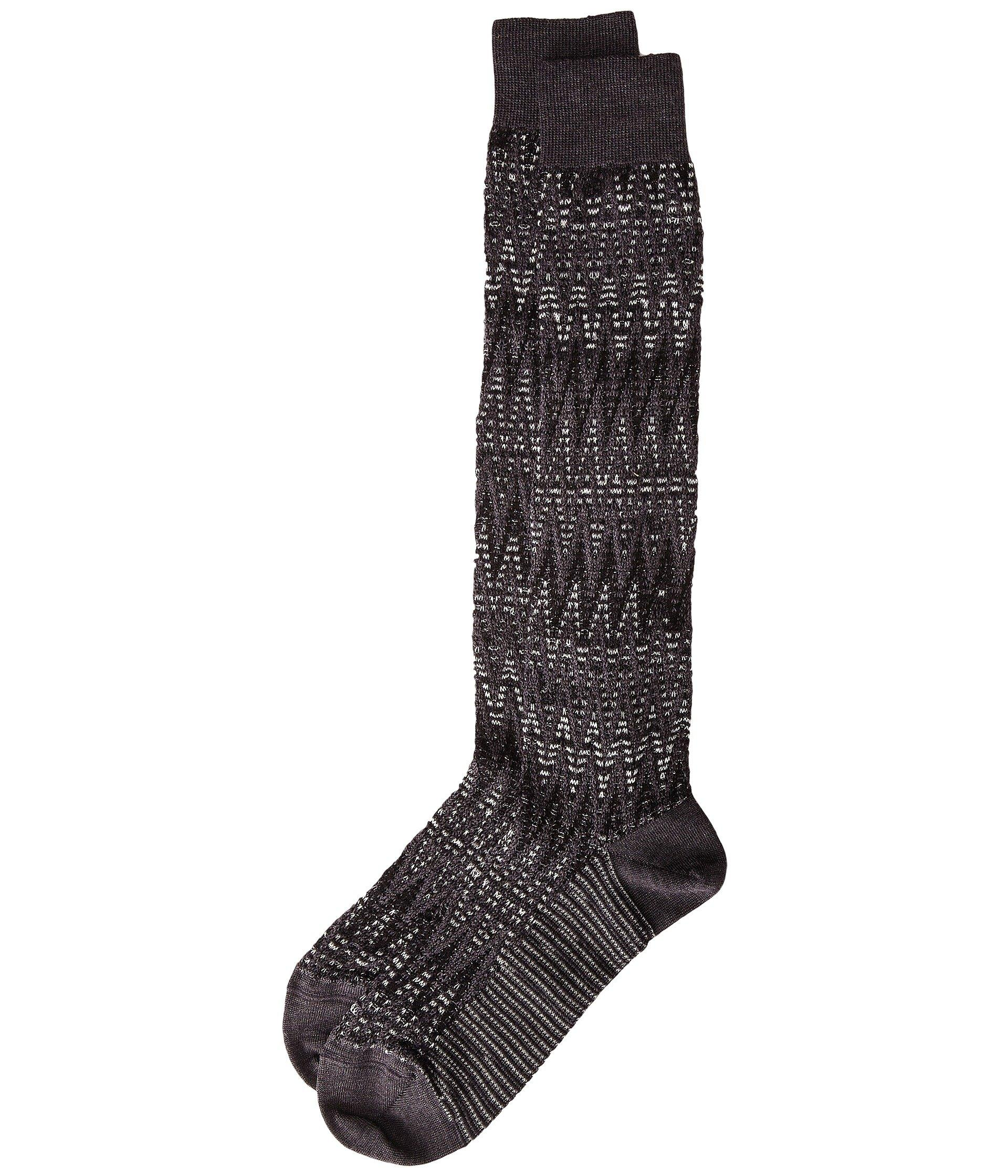Missoni Long Zigzag Socks In Black