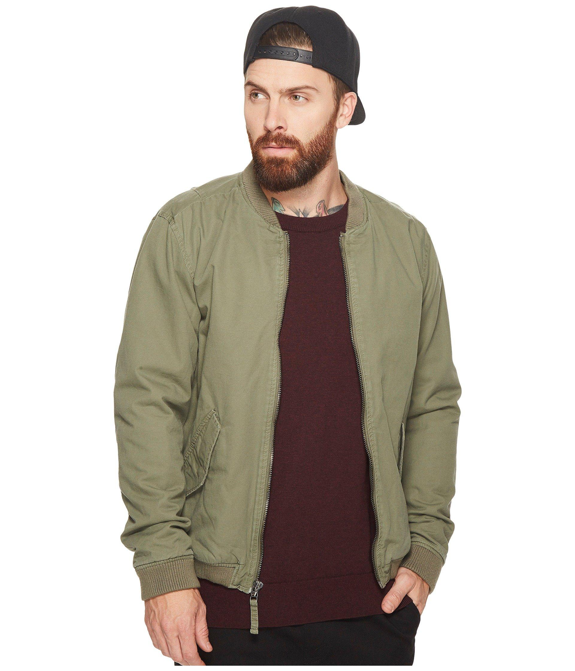 Rvca All City Bomber Jacket In Burnt Olive