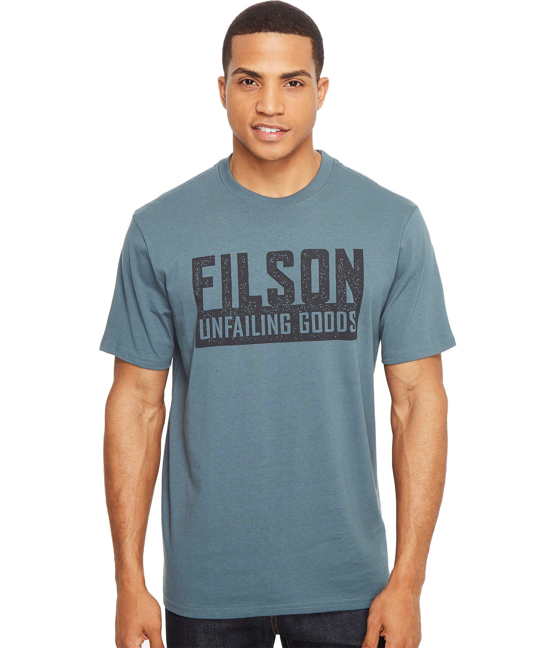 Filson Short Sleeve Outfitter Graphic T-shirt In Faded Blue (boundary)