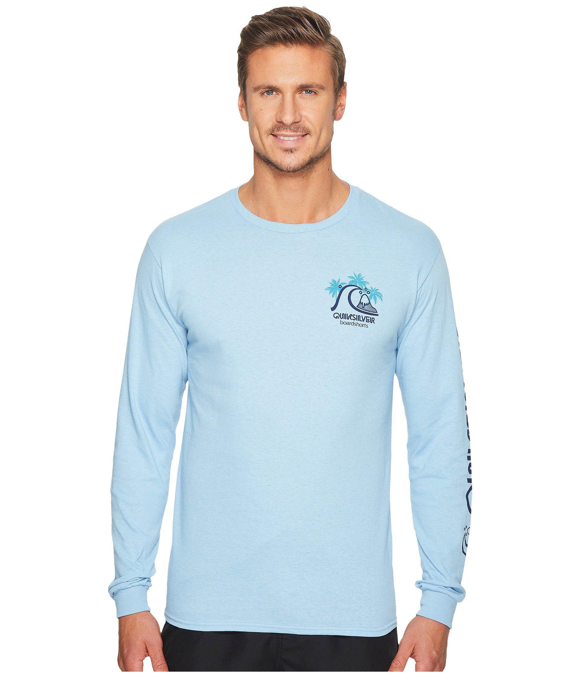 Quiksilver Quik Tropics Long Sleeve Shirt In Sky Blue