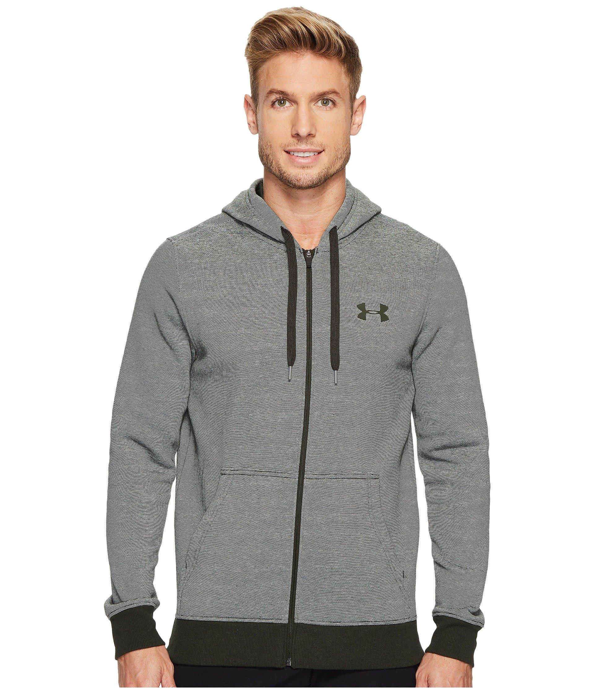 Under Armour Rival Eoe Fitted Full Zip In Artillery Green/artillery Green/artillery Green