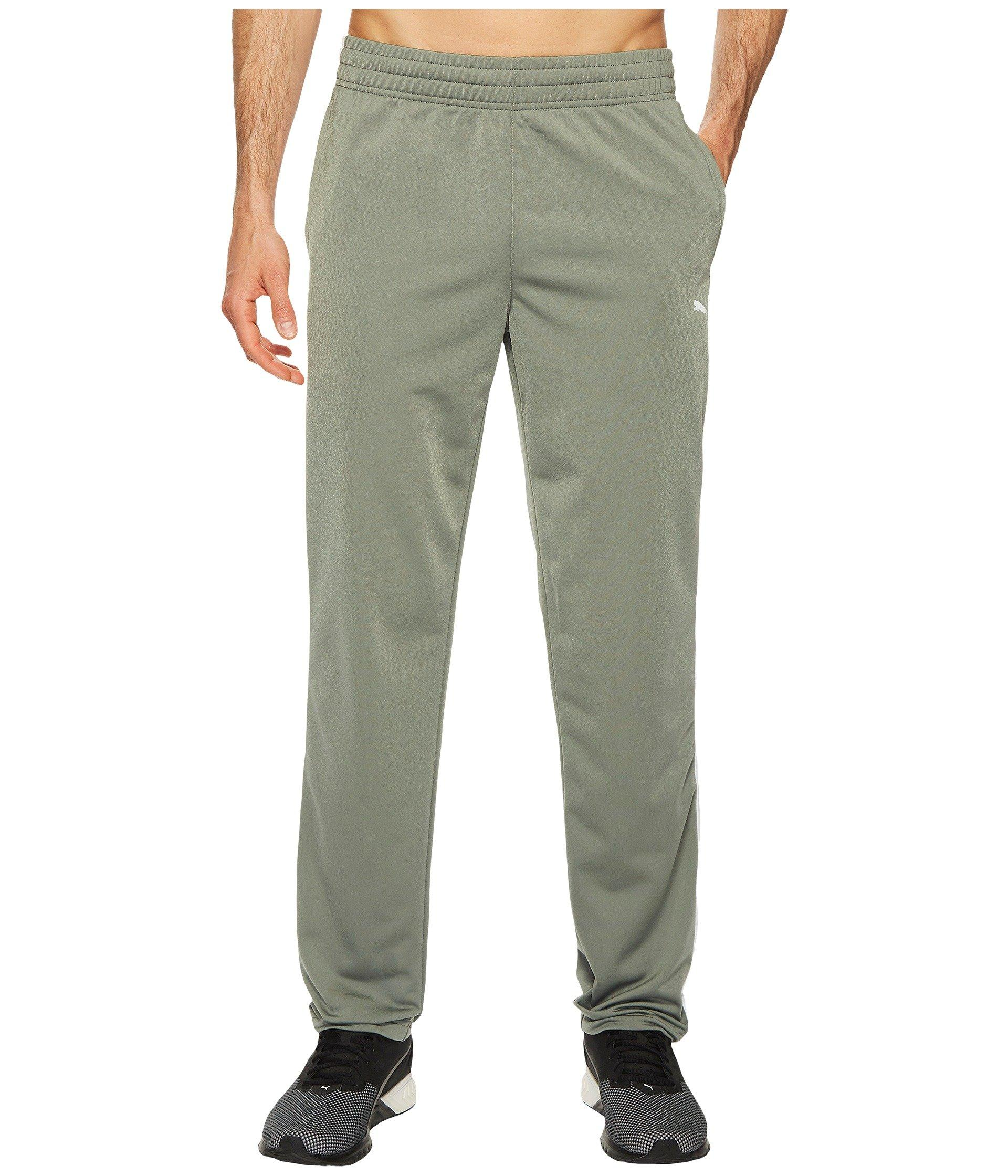 Puma Contrast Open Pants In Smoked Pearl/ White