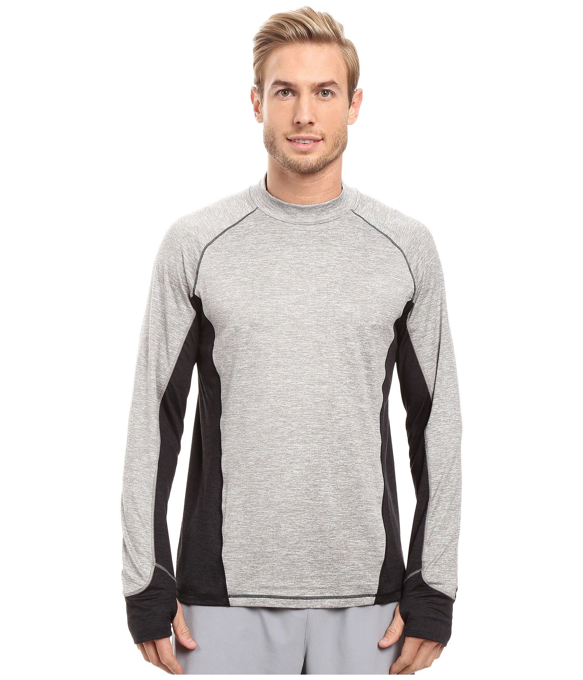 Brooks Dash Long Sleeve Top In Heather Oxford/heather Black