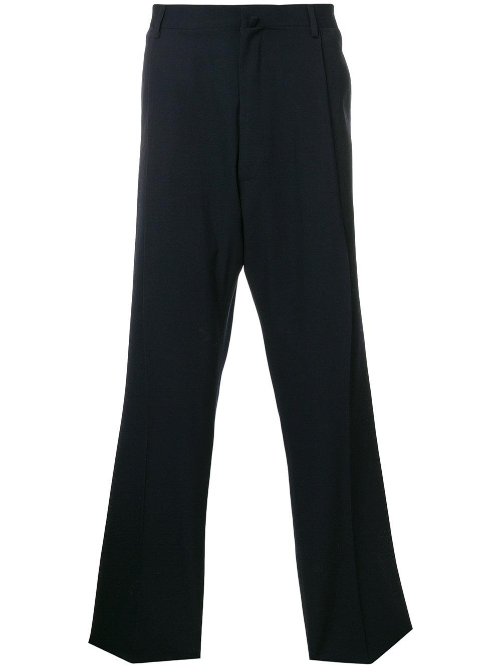Lanvin Concealed Front Trousers In Blue