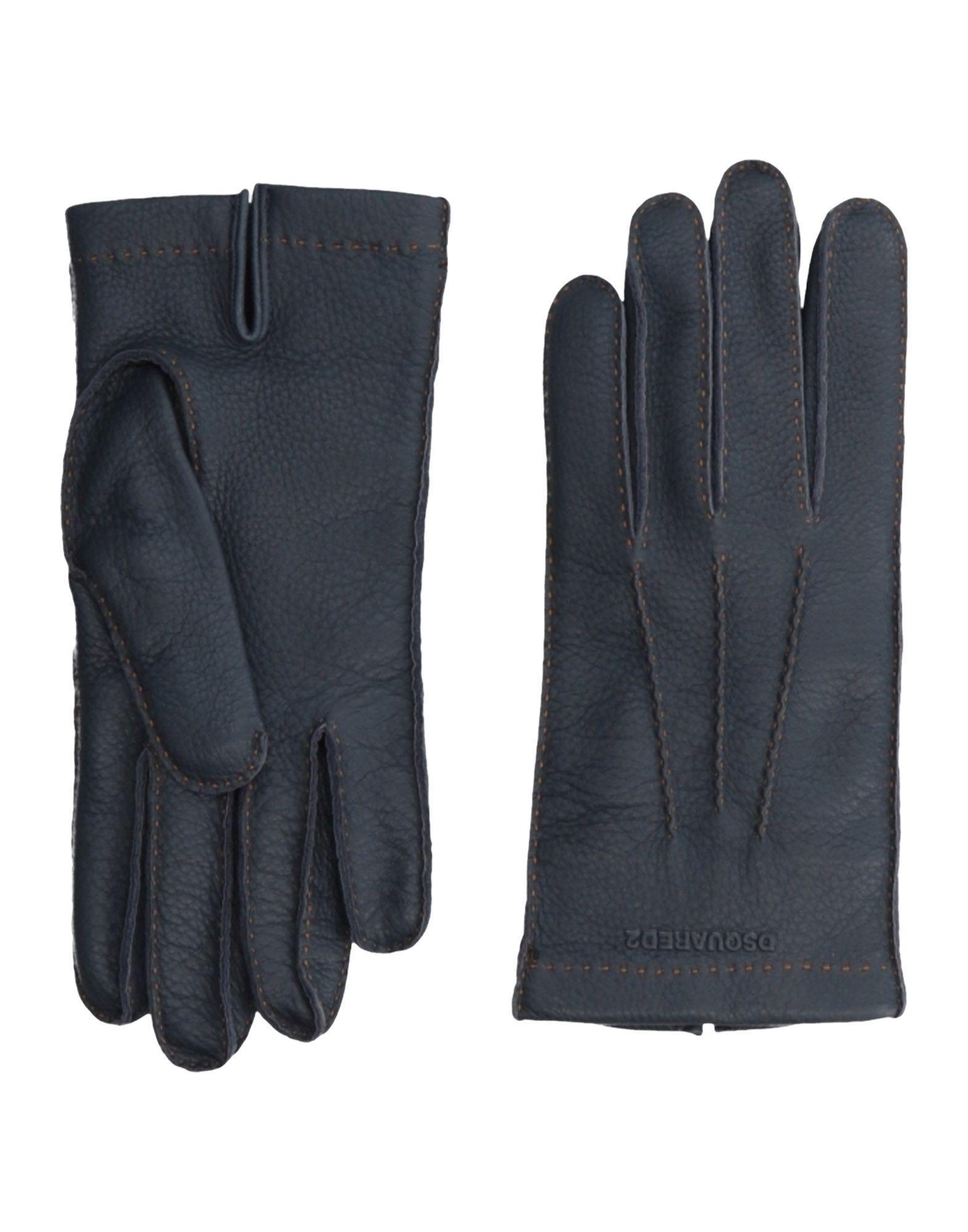 Dsquared2 Gloves In Dark Blue