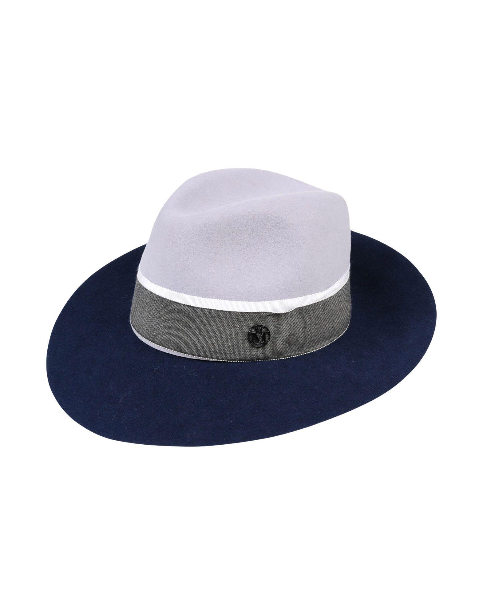 Maison Michel Hats In Light Grey