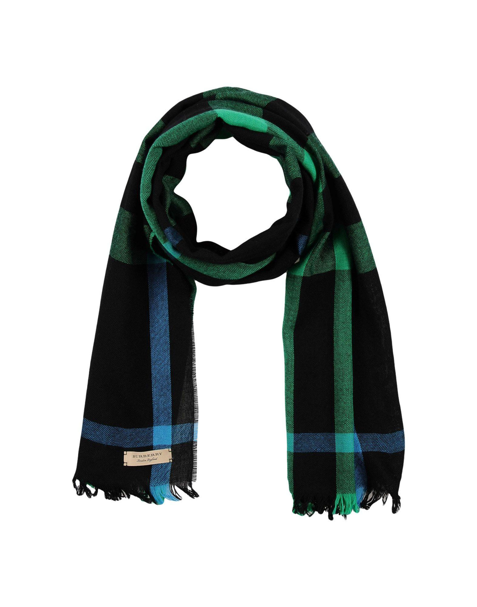 Burberry Oblong Scarves In Green