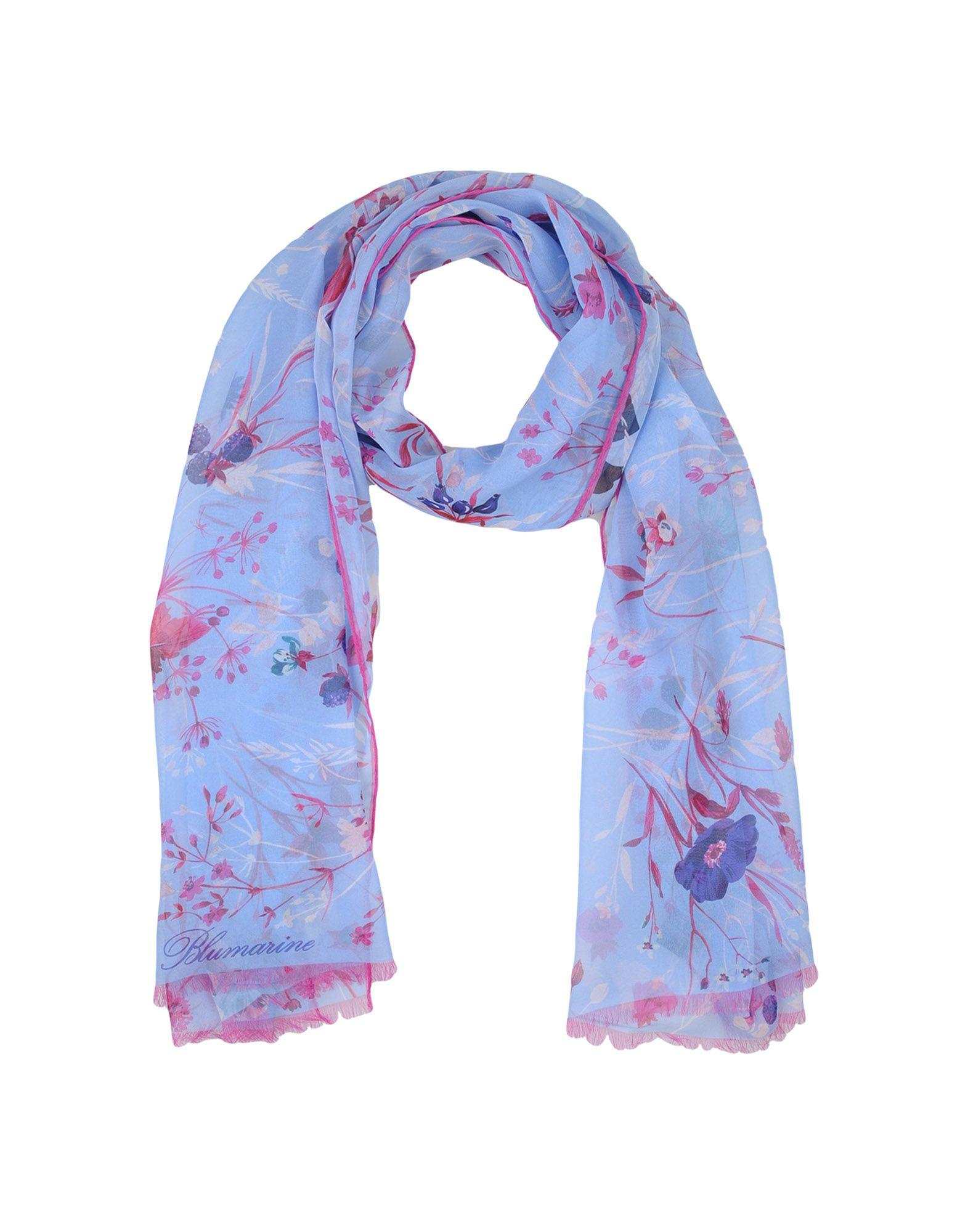 Blumarine Oblong Scarves In Sky Blue