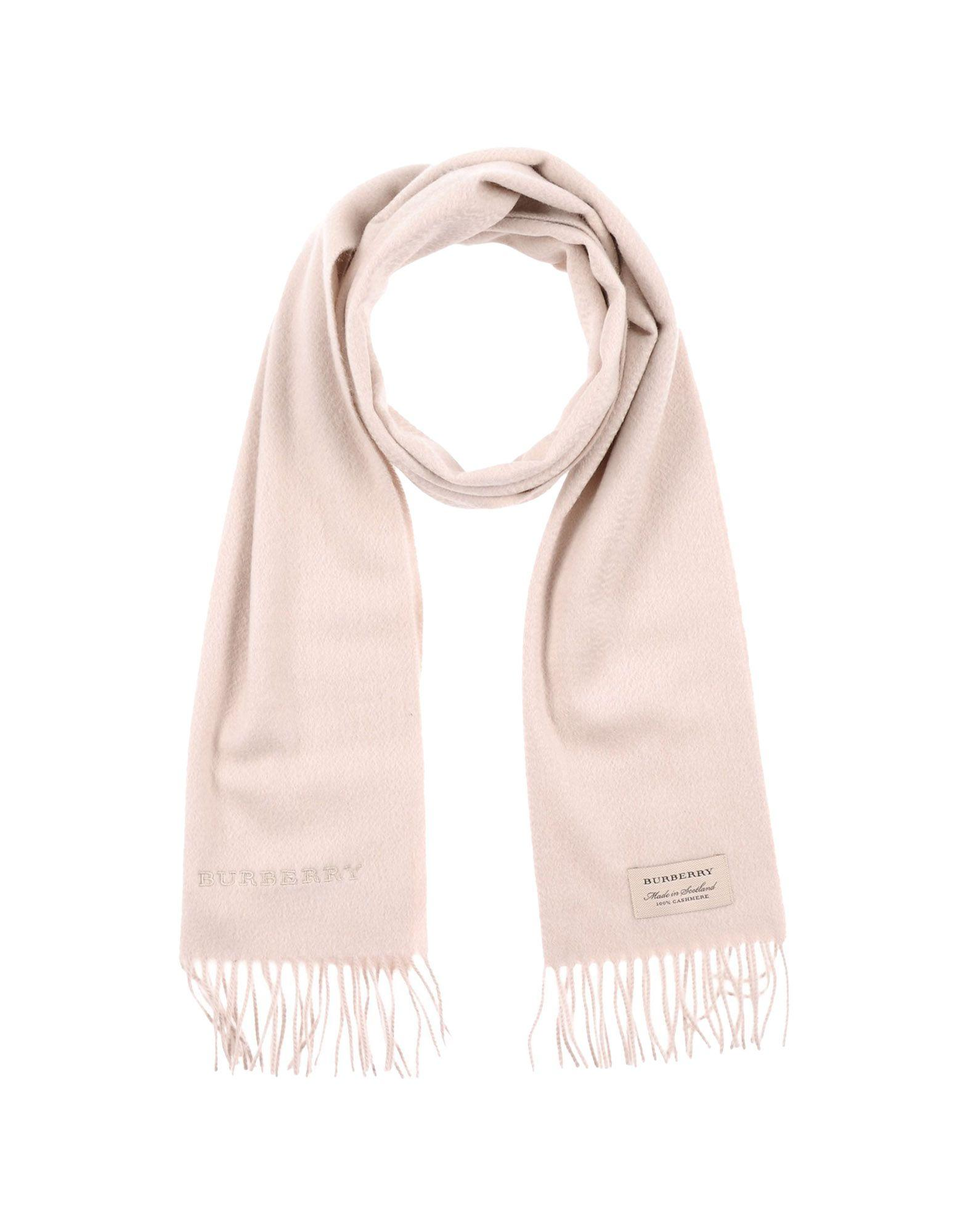 Burberry Scarves In Light Grey