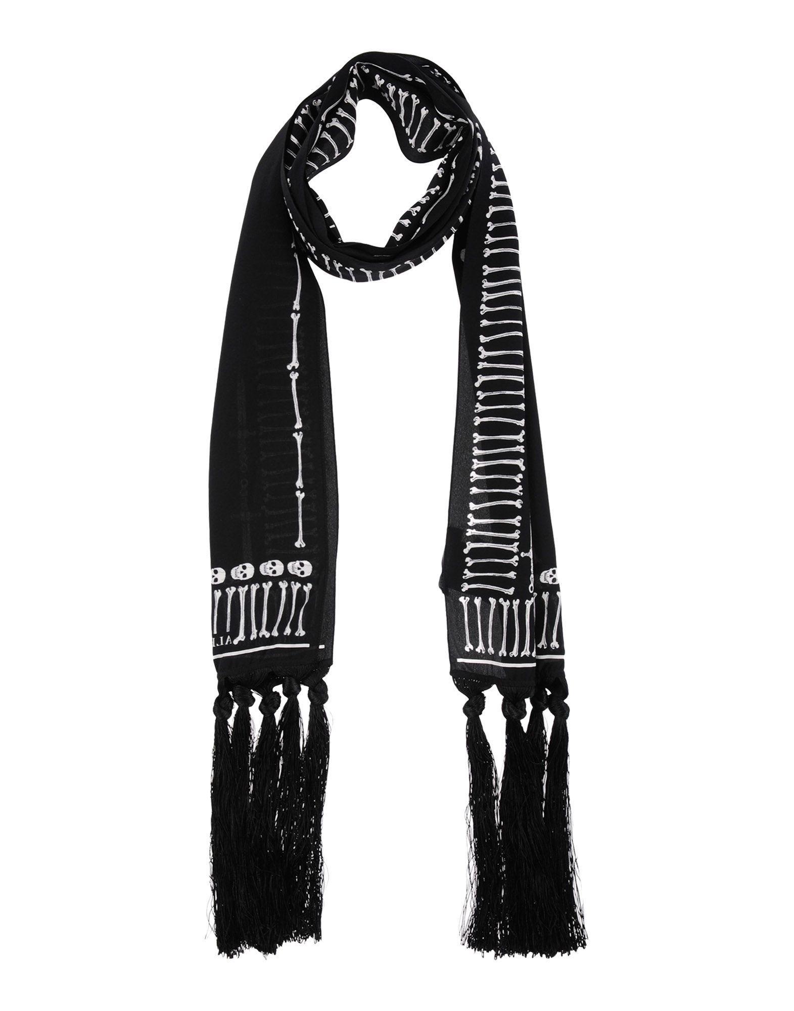 Alexander Mcqueen Oblong Scarves In Black