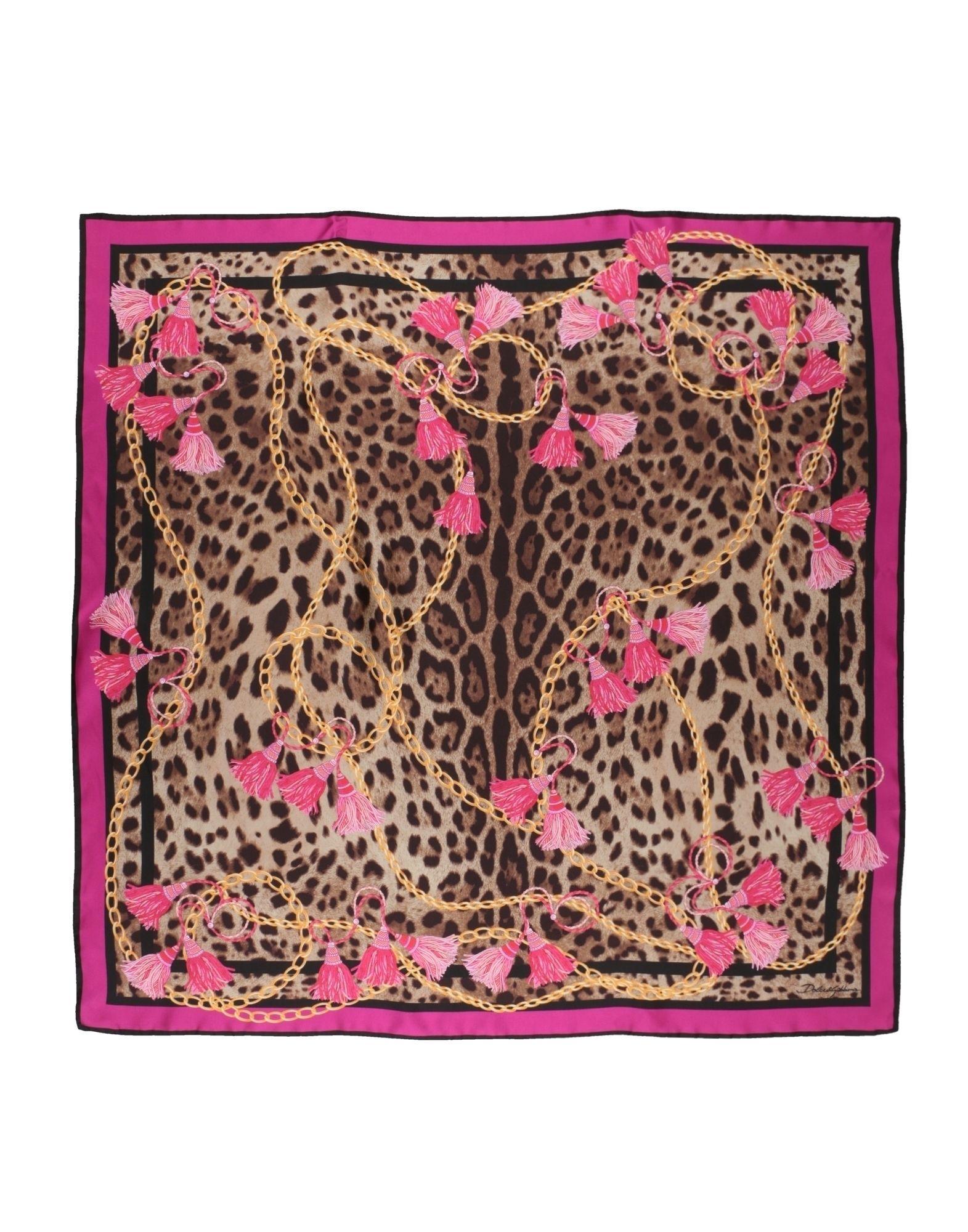 Dolce & Gabbana Square Scarf In Fuchsia