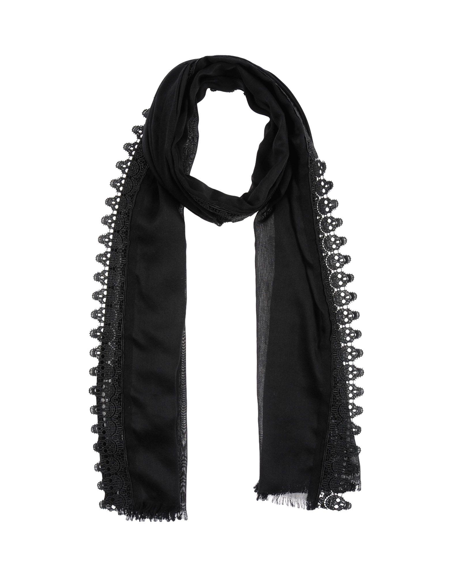 Alexander Mcqueen Scarves In Black