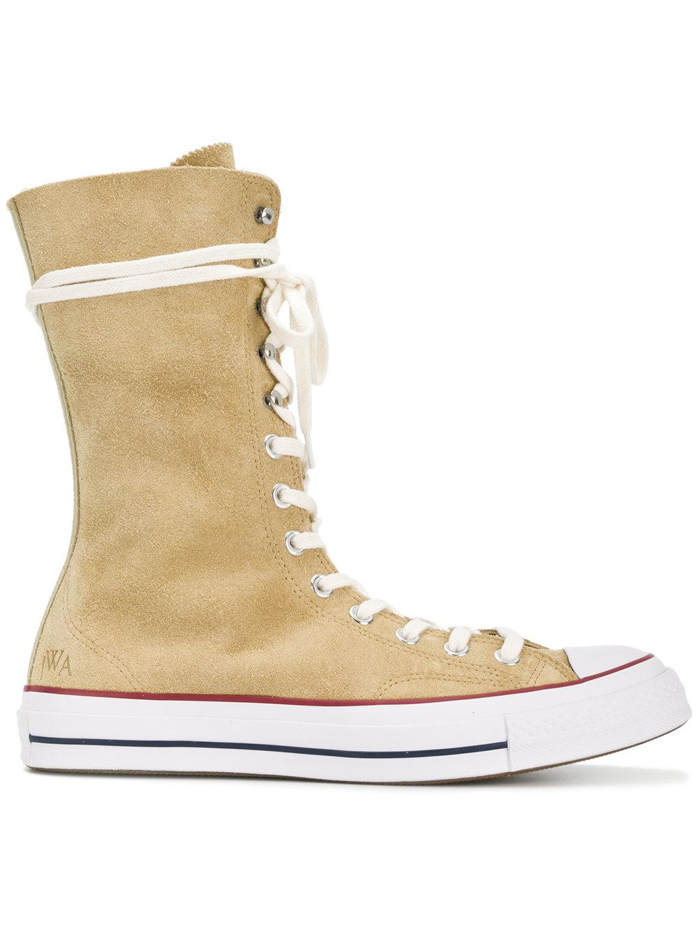 Converse X Jw Anderson Suede High-top Trainers In Beige