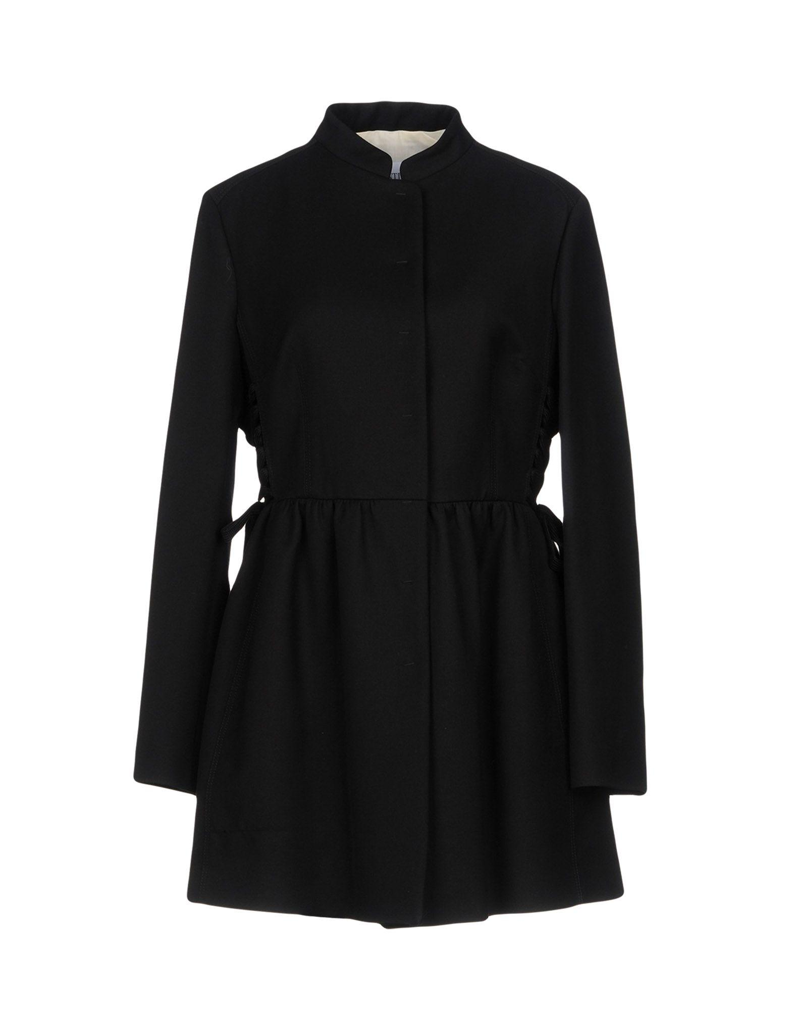 Red Valentino Overcoats In Black