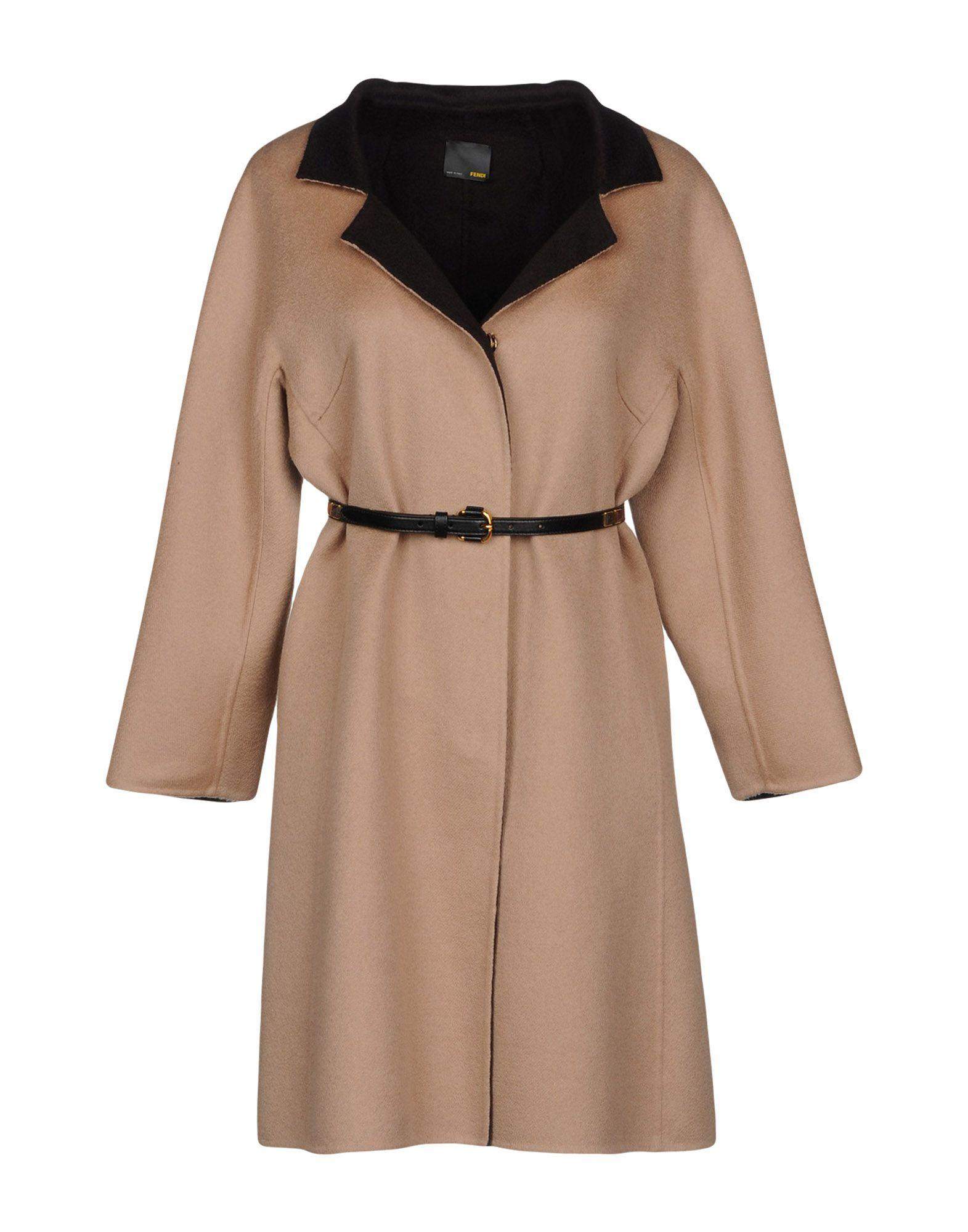 Fendi Coat In Camel