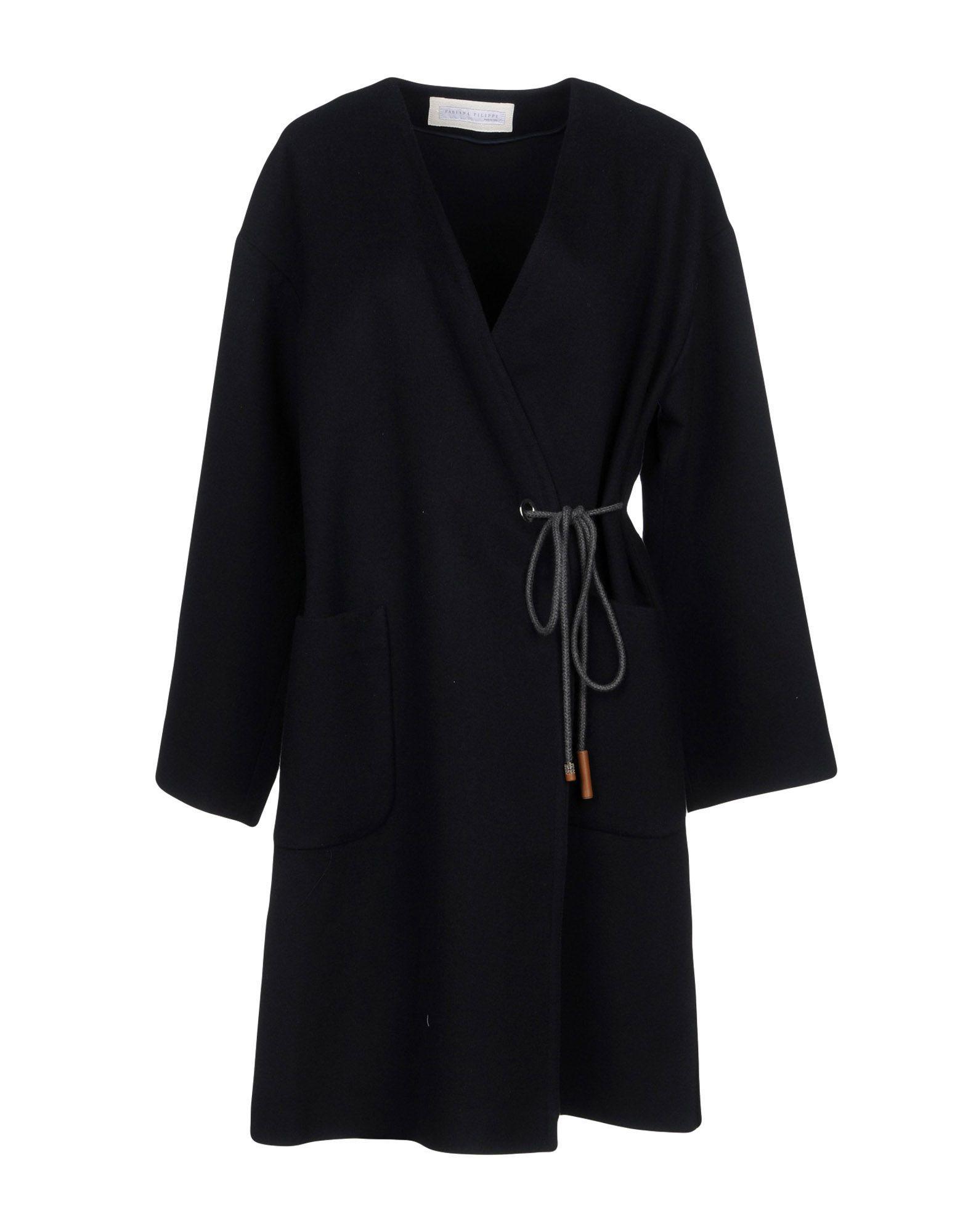 Fabiana Filippi Coats In Dark Blue