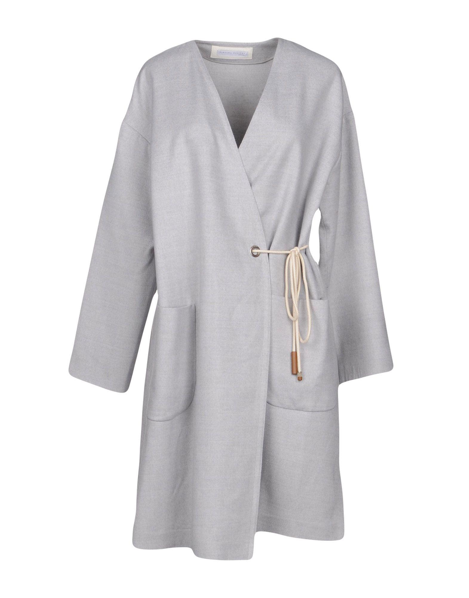 Fabiana Filippi Coat In Light Grey