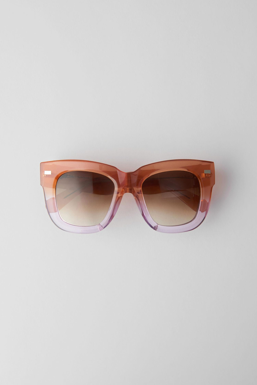 Acne Studios Large Square Frame Sunglasses Orangelilac/Brown Degrade