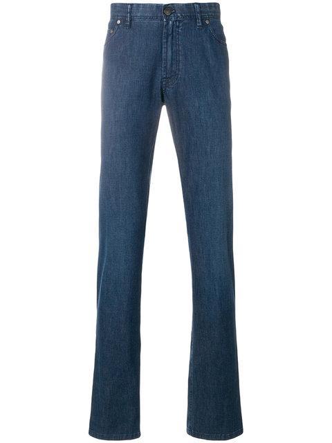 Brioni Long Length Loose-fit Jeans - Blue