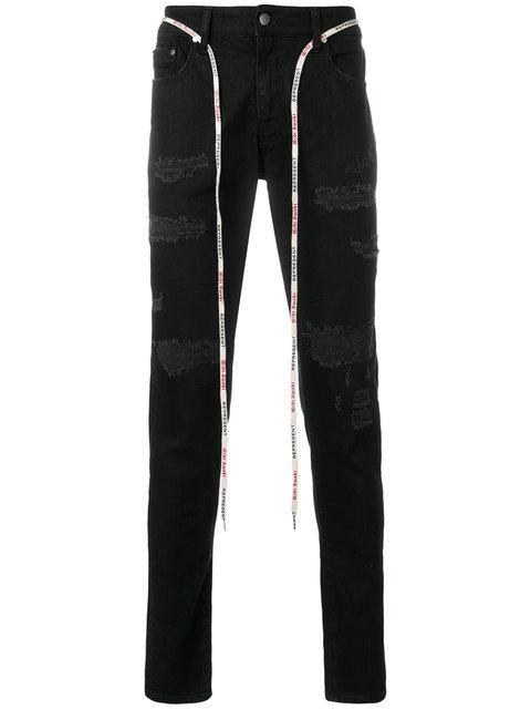 Represent Distressed Slim Fit Jeans