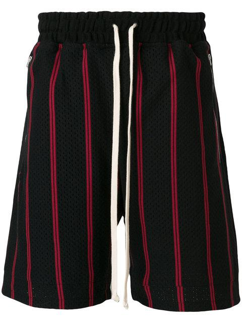 Represent Black-red Mesh Shorts